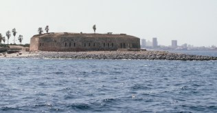 The House of Slaves on Goree Island in Dakar, Senegal now stands as a memorial to the Atlantic Slave Trade. For many years, it housed slaves before they were loaded onto ships bound for the Americas.