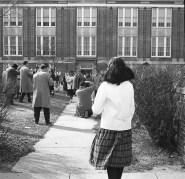 Patricia Turner waiting for LaVera Forbes, James Turner, Edward Jordan and Claudia Wellington - Norview Jr. High School