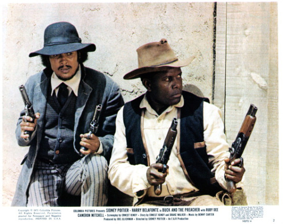 Harry Belafonte And Sidney Poitier In 'Buck And The Preacher'