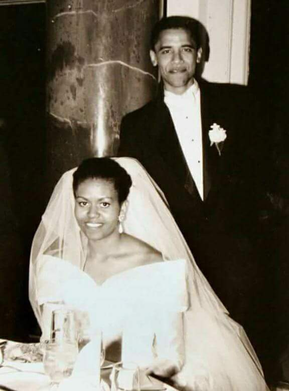 barack and michelle wedding picture