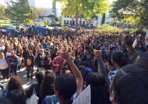 Berkeley High students walk out over racist post