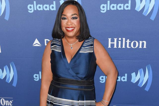 21 Mar 2015, Los Angeles, California, USA --- Arrivals for GLAAD Media Awards held at The Beverly Hilton in Beverly Hills, California. Pictured: Shonda Rhimes --- Image by © Splash News/Splash News/Corbis