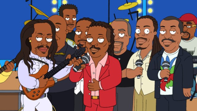 """THE CLEVELAND SHOW: Earth, Wind & Fire (guest-voicing as themselves) play at the Brown wedding in the """"You're The Best Man, Cleveland Brown"""" season finale episode of THE CLEVELAND SHOW airing Sunday, May 23 (8:30-9:00 PM ET/PT) on FOX.   THE CLEVELAND SHOW ™ and © 2010 TTCFFC ALL RIGHTS RESERVED."""