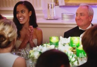 Malia and Sasha Obama first state dinner 28