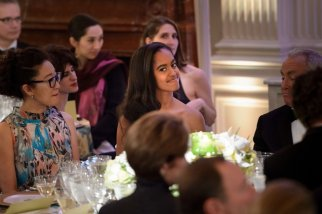 Malia and Sasha Obama first state dinner 29