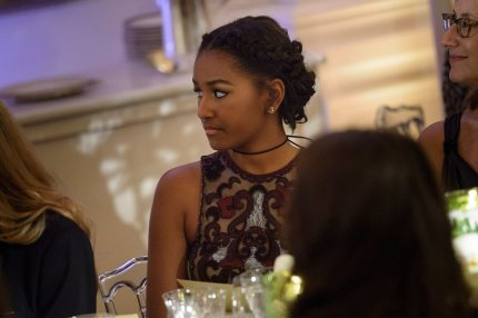 Malia and Sasha Obama first state dinner 31