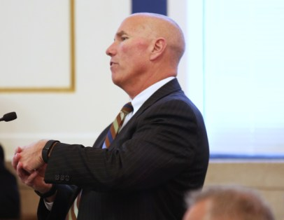 Hamilton County Assistant Prosecutor Rick Gibson questions University of Cincinnati patrol officer Philip Kidd during the trial of former UC officer Ray Tensing. Ray Tensing is charged with murder of Sam DuBose during a routine traffic stop on July 19, 2015. The presiding judge is Common Pleas Judge Megan Shanahan. Tensing's lawyer, Stew Mathews has said Tensing fired a single shot because he feared for his life. The Enquirer/ Cara Owsley