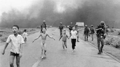 """Pulitzer Prize winning photojournalist Nick Ut, best known for his 1972 Vietnam War photograph known as """"Napalm Girl"""" Phan Thị Kim Phúc OOnt, referenced informally as the Napalm girl, is a Vietnamese-Canadian best known as the nine-year-old child depicted in the Pulitzer Prize-winning photograph taken during the Vietnam War on June 8, 1972."""