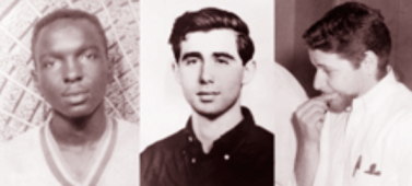 James Earl Chaney, Andrew Goodman and Michael Henry Schwerner, young civil rights workers, were arrested by a deputy sheriff and then released into the hands of Klansmen who had plotted their murders. They were shot, and their bodies were buried in an earthen dam.