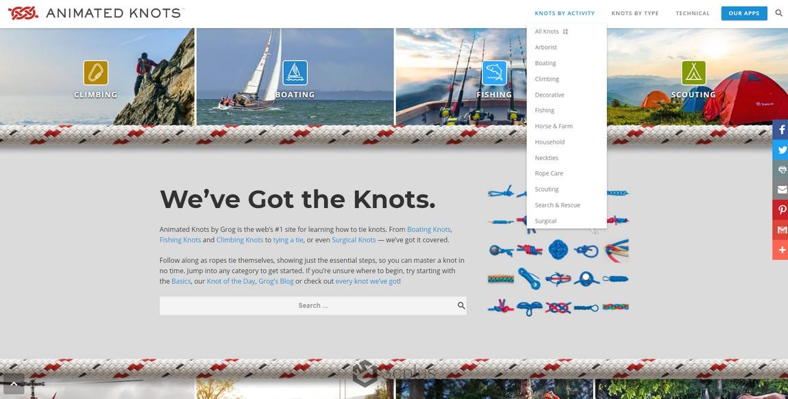從領結到繩結,Animated Knots 教你一步步打出數百種的繩結