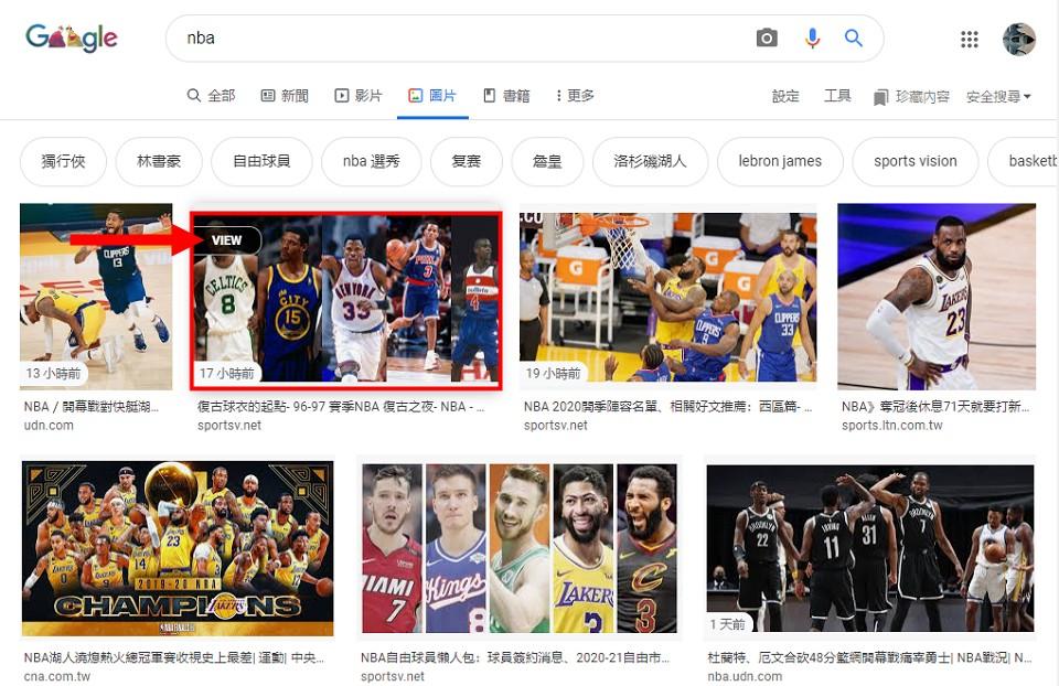 GooglePanicImages 幫你快速找到 Google 圖片搜尋的圖片原始網址
