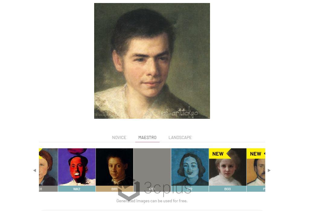 讓 AI 畫伯替你描繪屬於你的古典藝術照