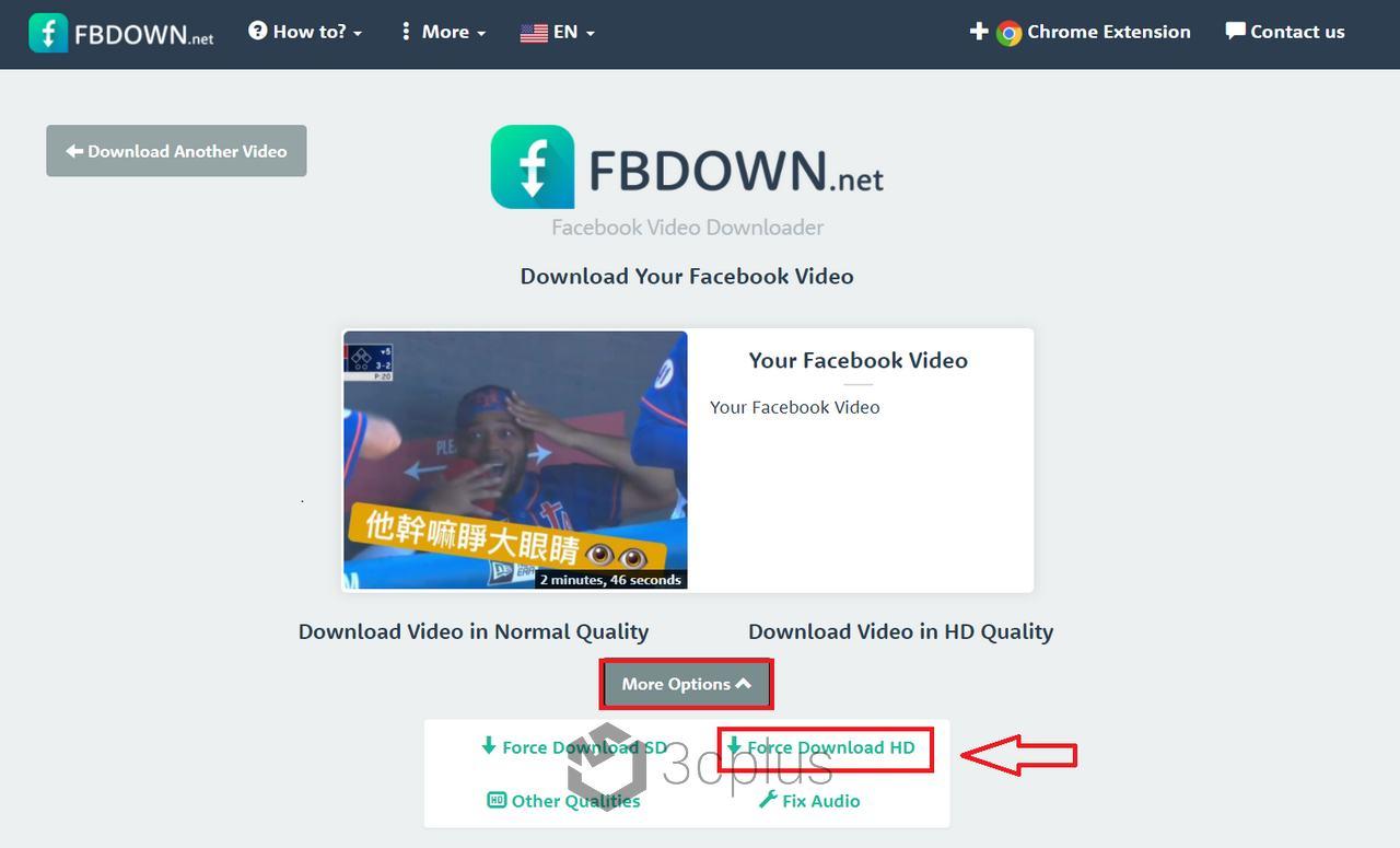 FBdown | 只需網址就能免費下載 Facebook 上的高畫質影片