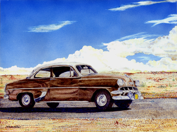 """1953 Chevy 16"""" x 12"""""""