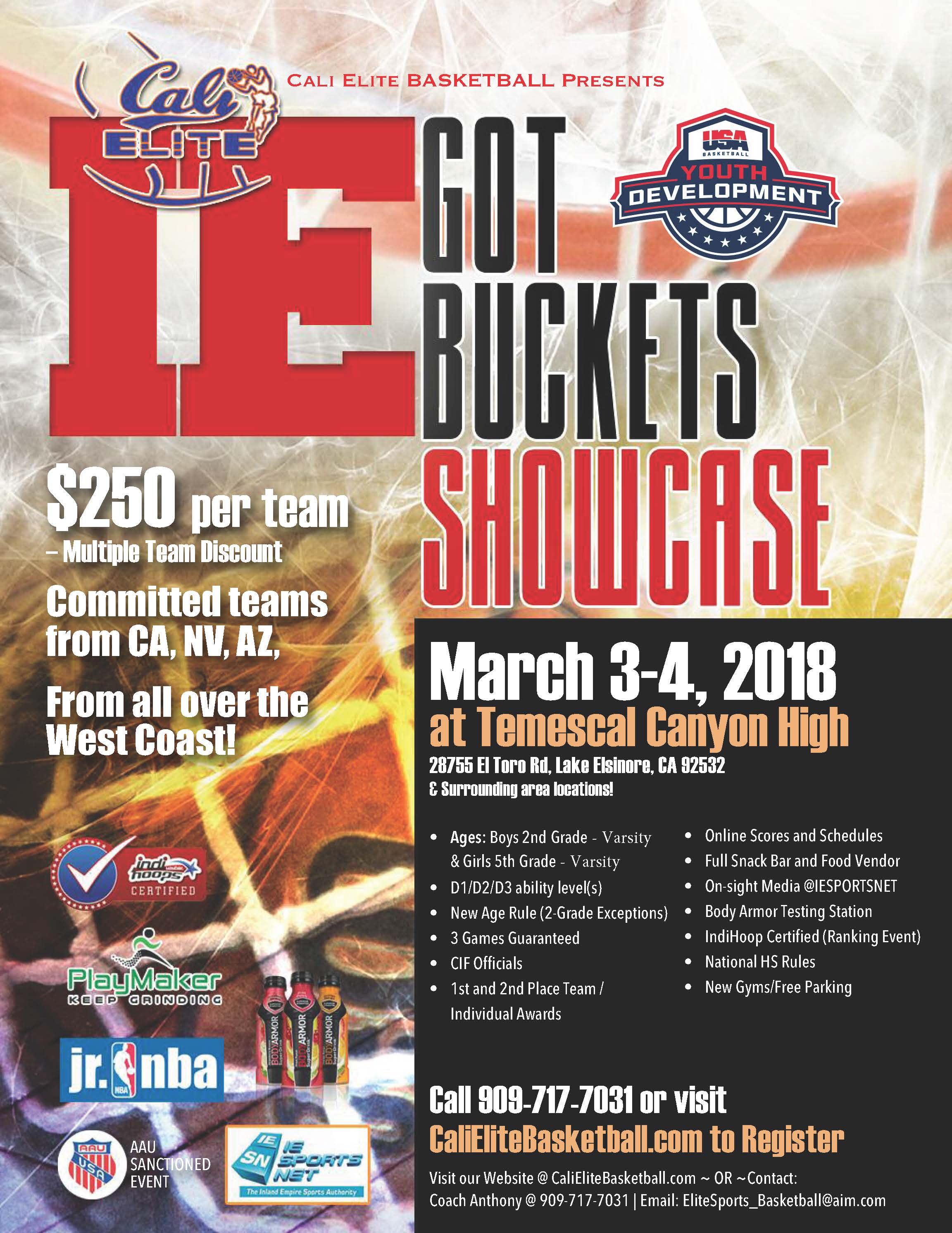 Aau Basketball Flyer
