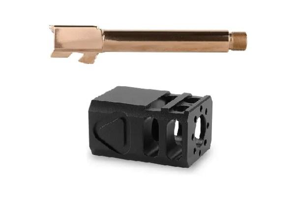 Glock 17 Rose Gold Barrel and TBC Comp Combo