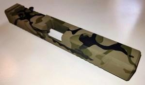 Green Camo Cerakote Glock 17 slide