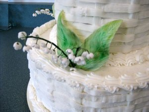 Basket Weave Wedding Cake