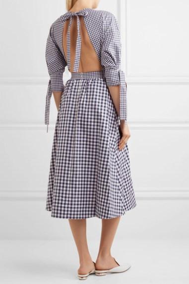 Rosetta Getty open-back gingham cotton dress