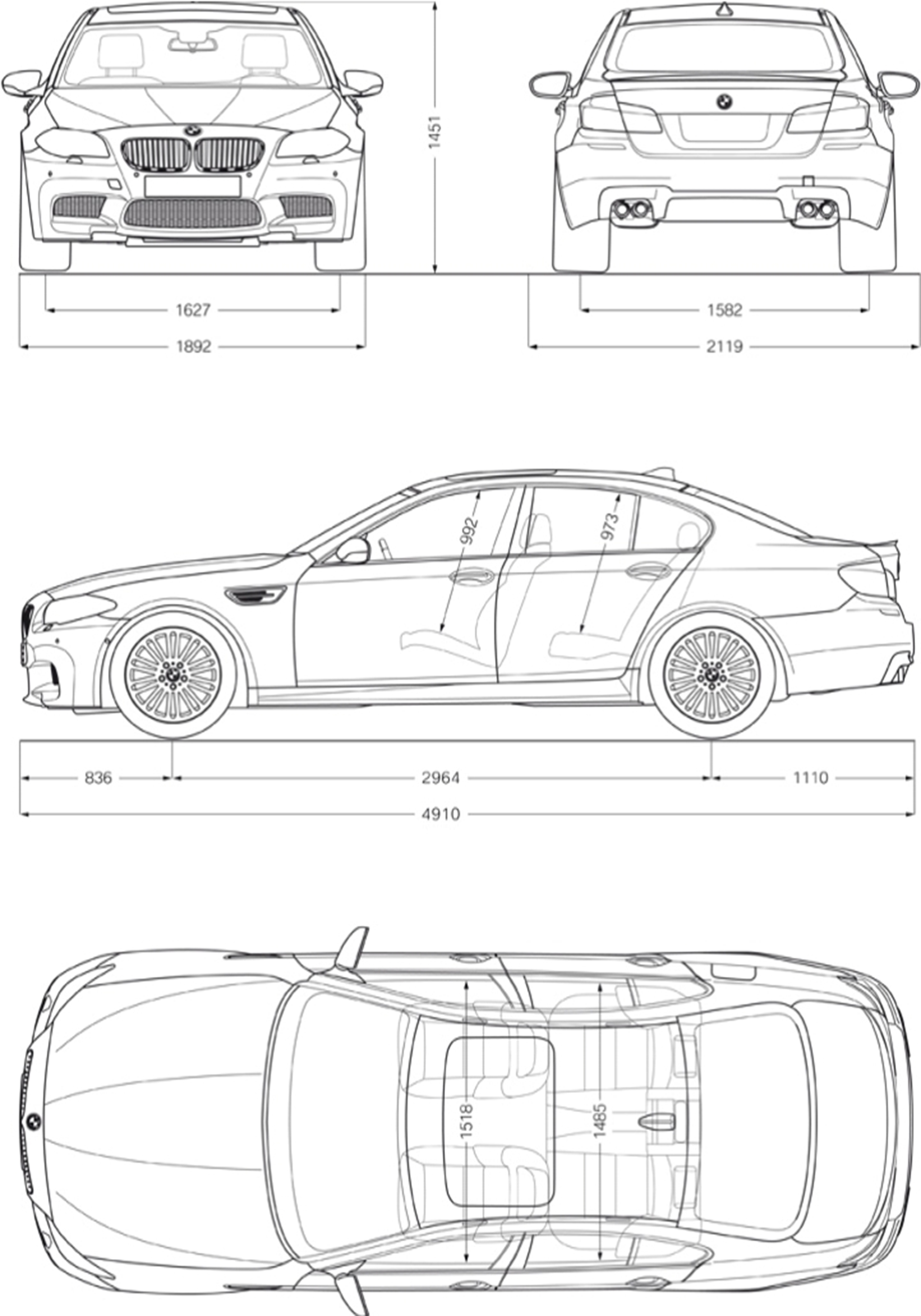 hight resolution of bmw m5 exterior and interior dimensions bmw diagram