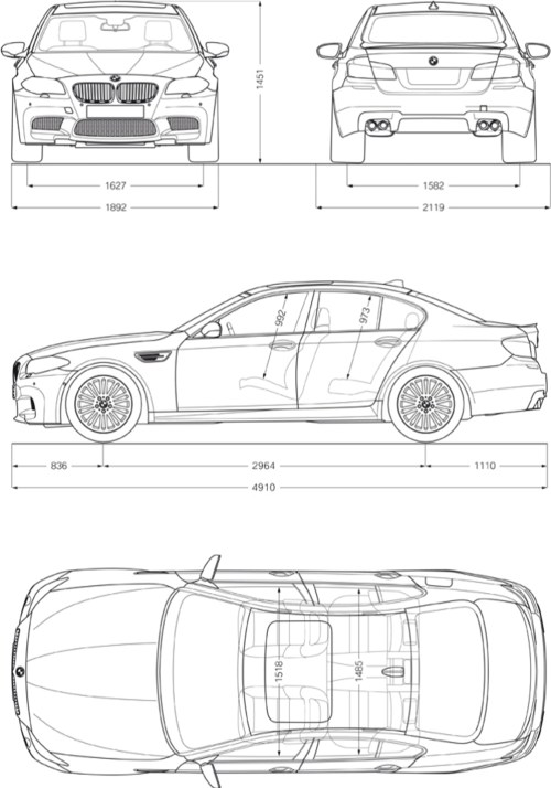 small resolution of bmw m5 exterior and interior dimensions bmw diagram