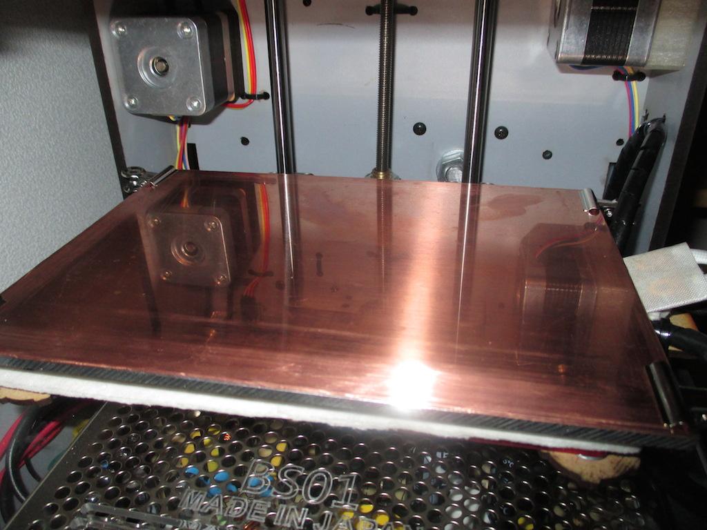 3Dプリンタ「BS01」のヒートベッドの上に取り外し式の銅板を設置してみたよ【追記あり】