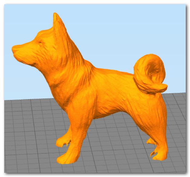 BS01 造形物(PLA):柴犬?