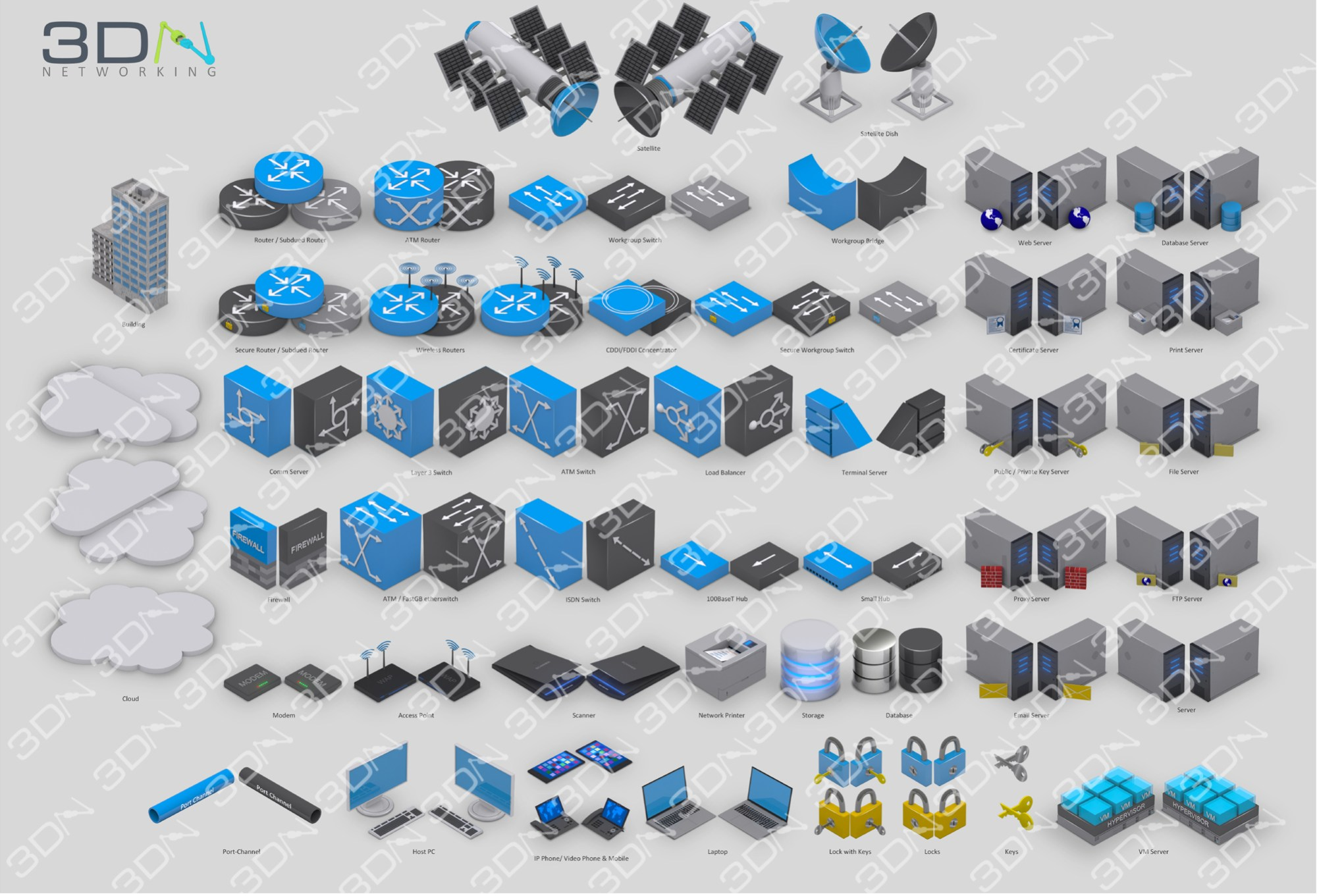 hight resolution of 3d symbols 3d networking switch network diagram icons 3d network diagram icons