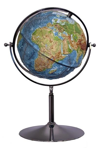 Globe Map 3d : globe, Raised, Relief, Globe