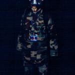 Franklin wearing NeoPixel Gas Mask at Arizona Fur Con