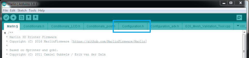 Marlin Configuration h