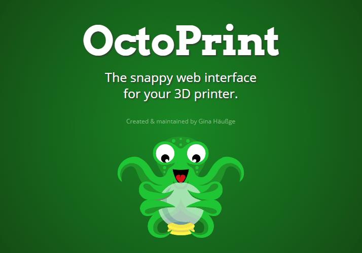 Octo-pi 3d printer software