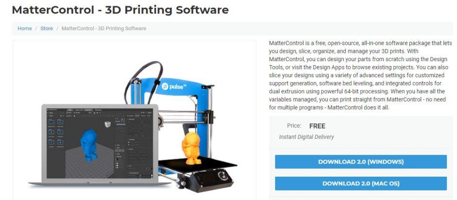 mattercontrol 3D Printer slicers software