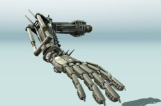 Rigged Robot Arm Animated on Studio Verold