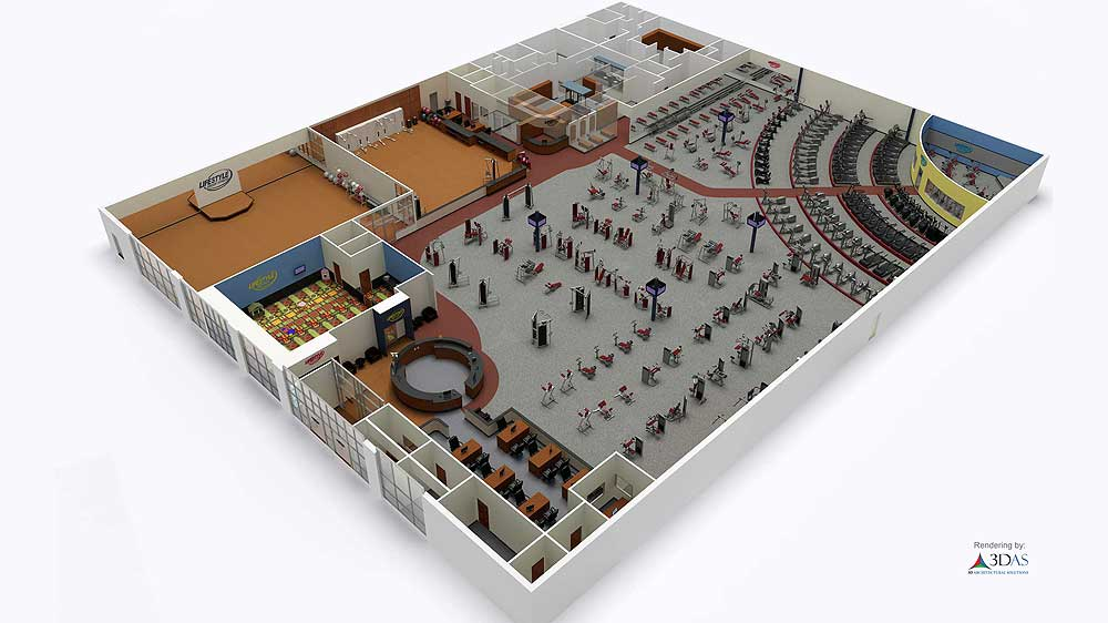 3d gym animation and floor plan in sarasota florida for 3d floor design software