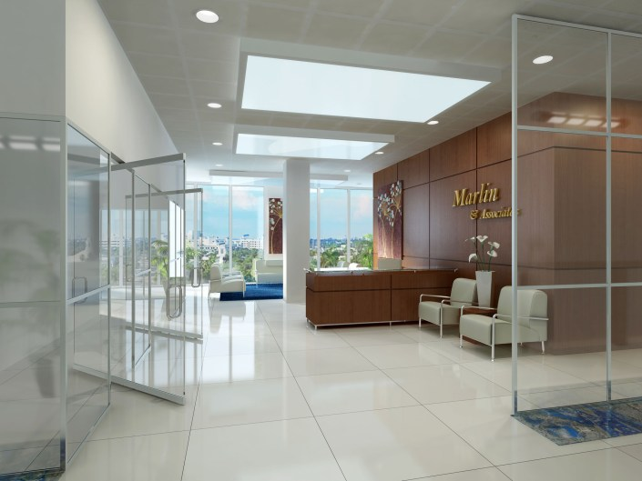 Interior Typical Office - Seagate Properties - 3D Concept in Fort Lauderdale, Florida
