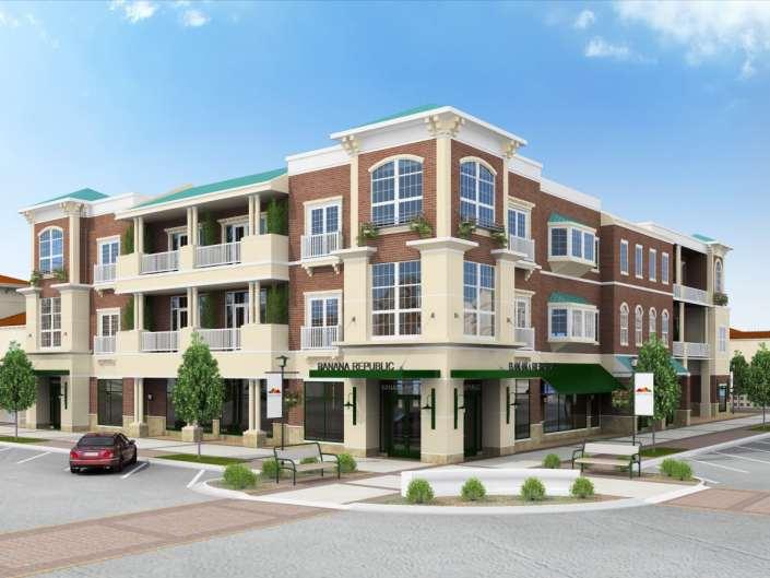 3D Render Preston Lake Retail and Residence in Harrisonburg Virginia
