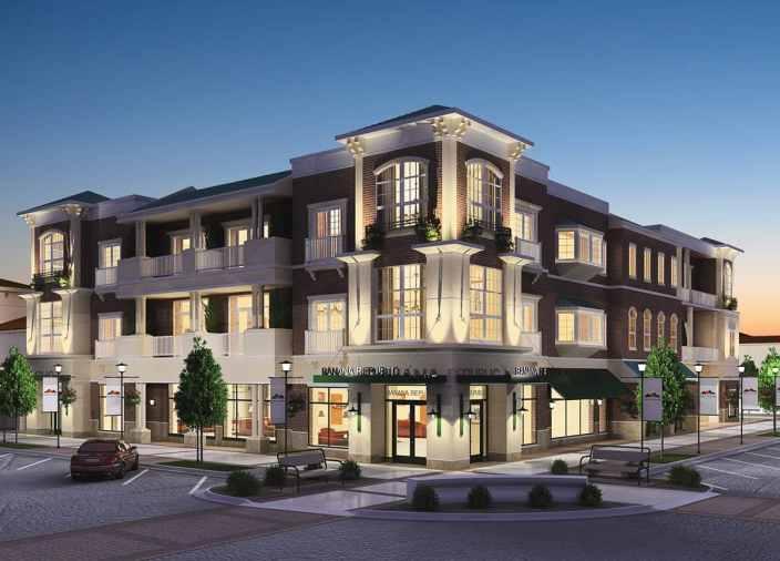 3D Night Render Preston Lake Retail and Residence