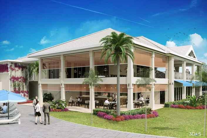 Sterling Oaks 3D Rendering of Renovated Exterior (Bonita Springs, Florida)