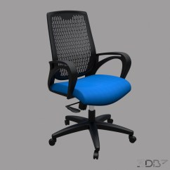 Office Chair 3d Model How To Make A Hanging Blue 3db3 Com Free Download