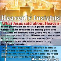 Heavenly Insights – Parables – What Jesus said about Heaven