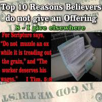 Top 10 Reasons People do not Give Offerings – 7 – I give elsewhere