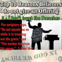 "Top 10 Reasons People do not give Offerings – 5 – ""I don't trust the Preacher"""