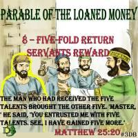 Parable of the Loaned Money – 8 – Five-fold Return Servants Reward
