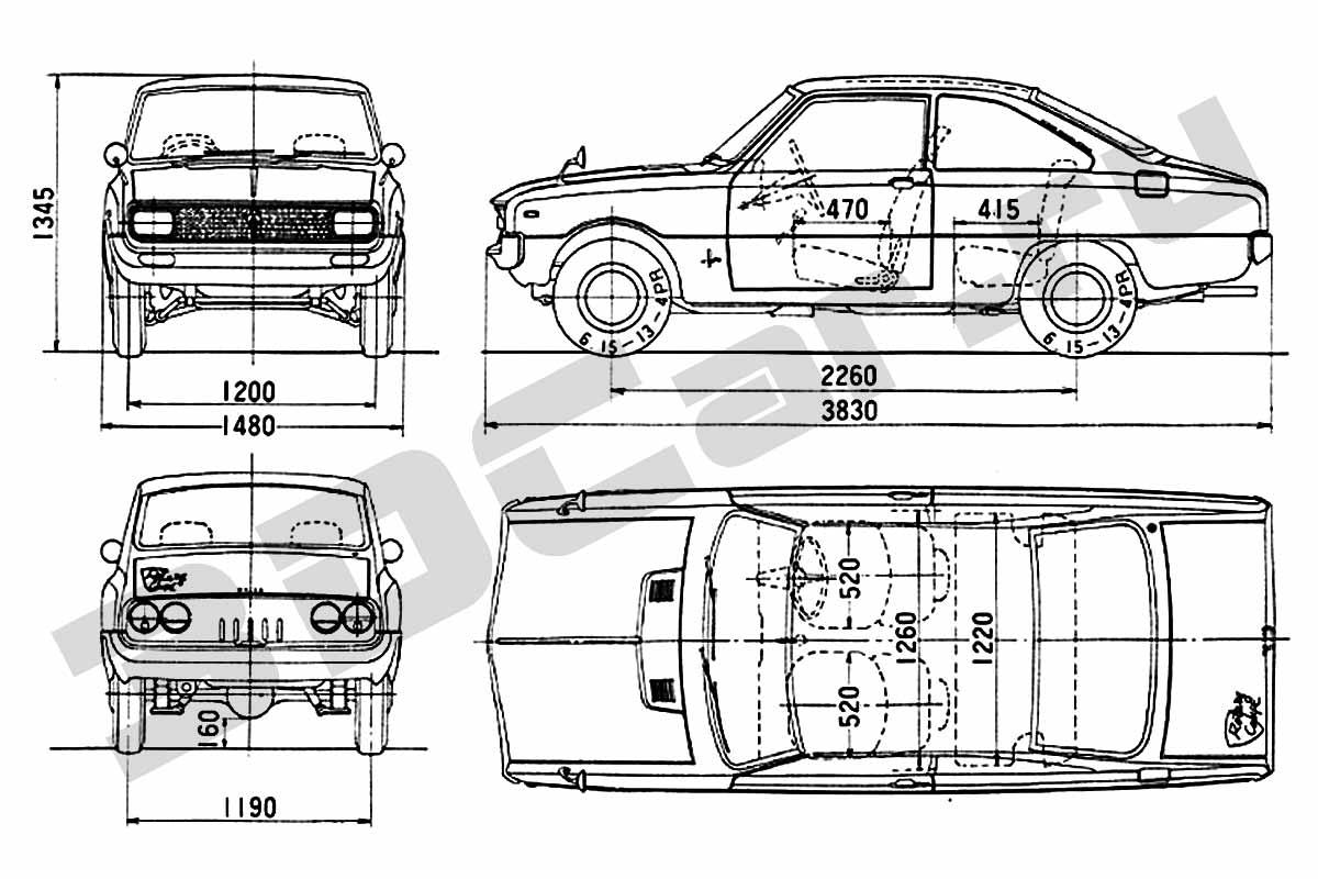 1968 Mazda Familia 1200 Coupe (Photo source: Mazda Motor