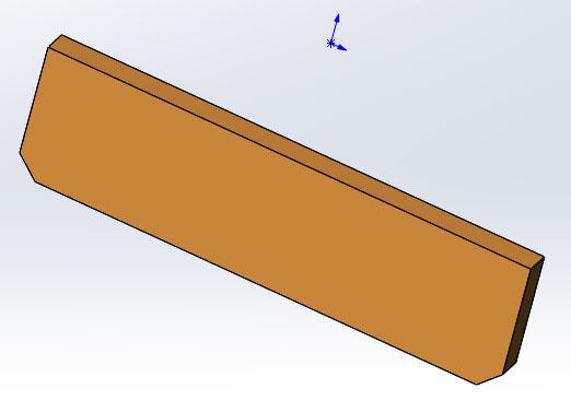 Чертеж сиденья табурета из дерева в SolidWorks
