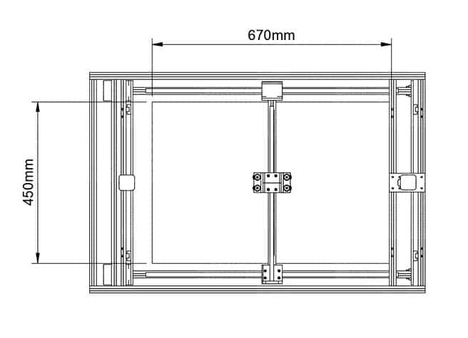 Workhorse 3d printer Dimensions