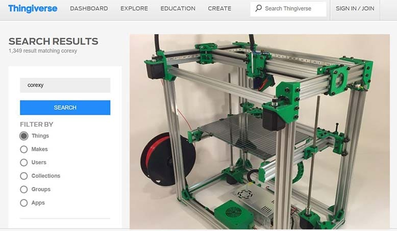 CoreXY 3D Printer Designs On Thingiverse