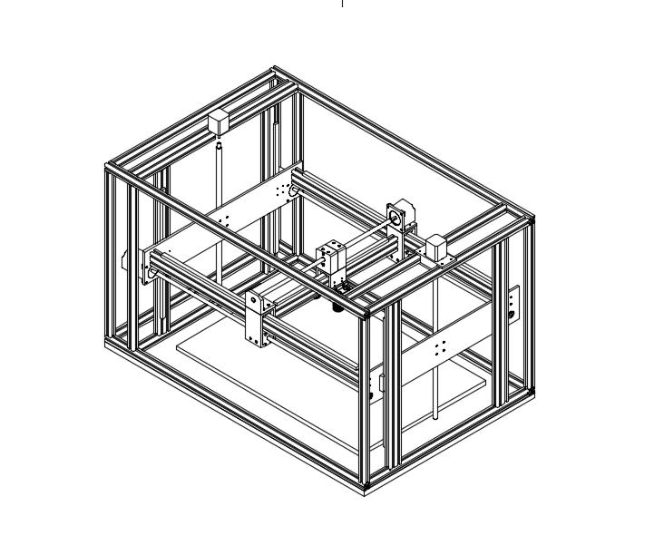 3D Printer CAD Isometric View