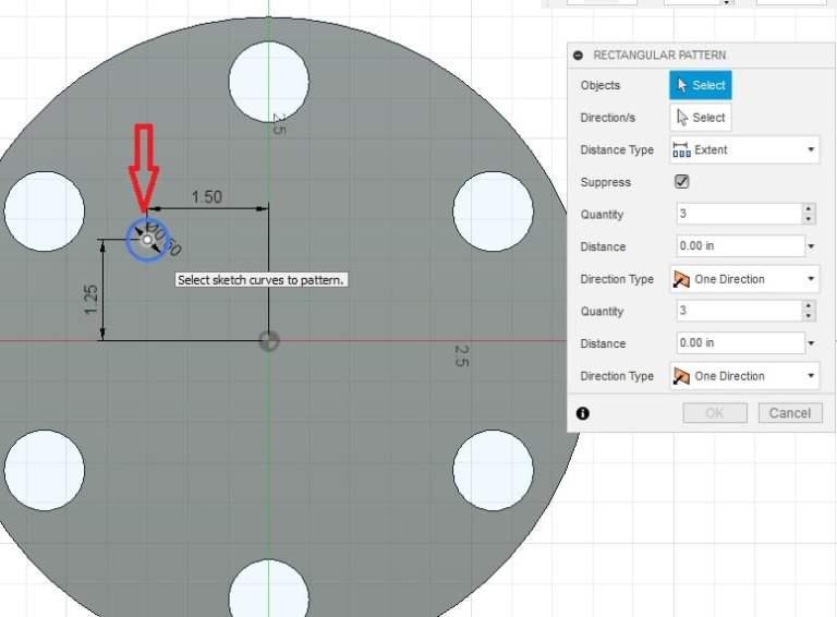 Fusion 360 Tutorial-Circular Pattern-Rectangular Pattern 15